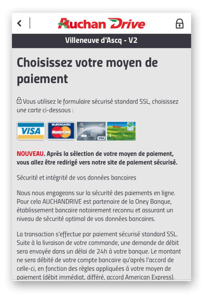 carte de paiement auchan moyen de paiement auchan drive   techthyoletbconlape