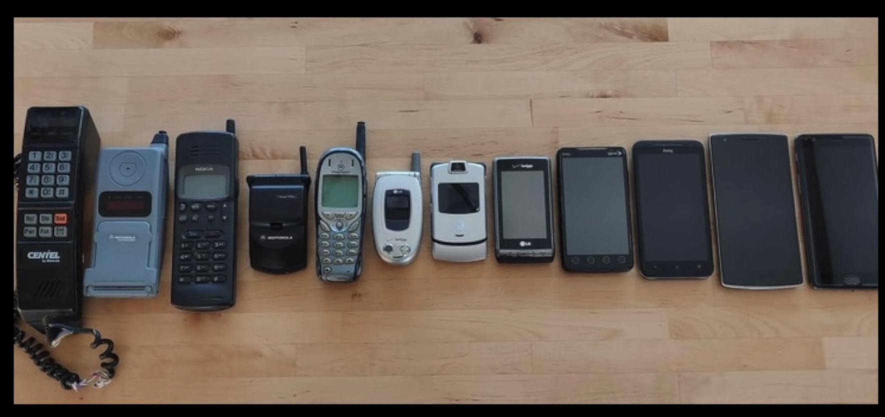 25 ans d'évolution du mobile