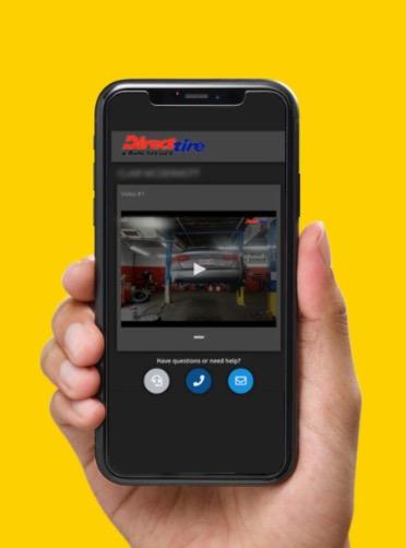 Jusqu'où peut aller la personnalisation ? Ici, aux Etat-Unis, la marque Direct Tire envoie des vidéos des réparations effectuées sur un véhicule à chacun de ses clients tout en les prévenant que celui-ci est prêt. (image fournie par Direct Tire)