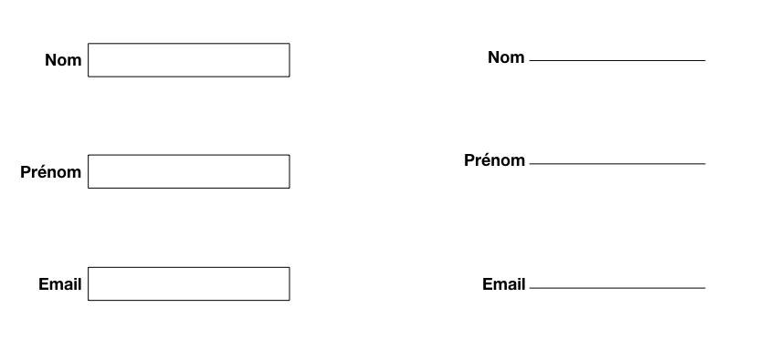 Exemple champs de texte