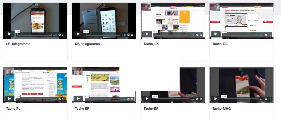 Capture d'écrans de tests utilisateurs pour letelegramme.fr