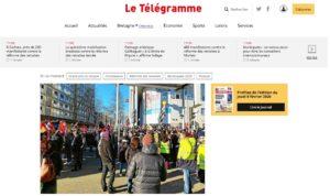Page d'accueil de Letelegramme.fr