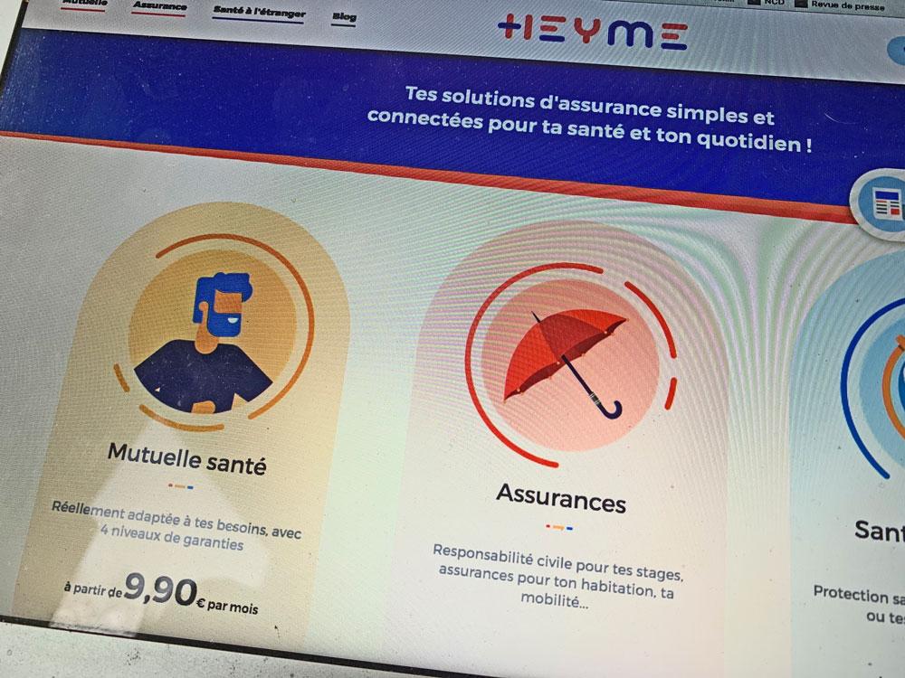 Page d'accueil du site heyme.care